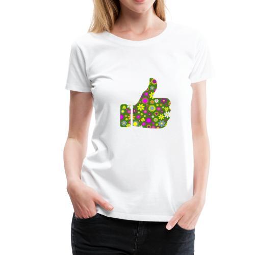 Retro Floral Pouce en l'Air - T-shirt Premium Femme