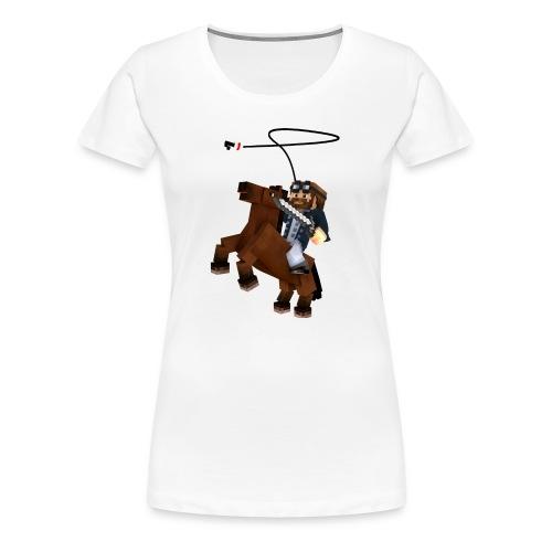 Titan y su rocinante café - Camiseta premium mujer
