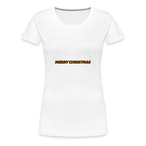 Merry Christmas logo - Women's Premium T-Shirt
