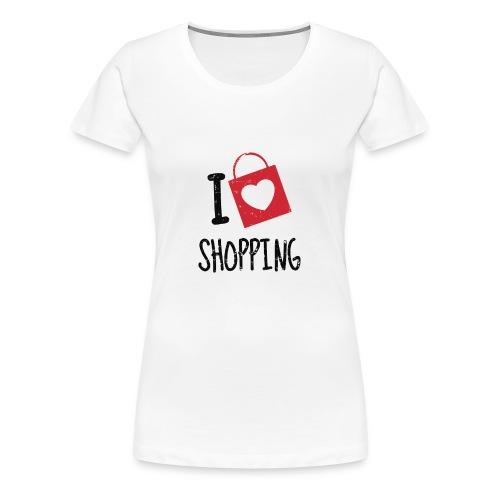 I Love Shopping - Vrouwen Premium T-shirt