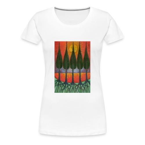 Czerwony Zachód Słońca - Koszulka damska Premium