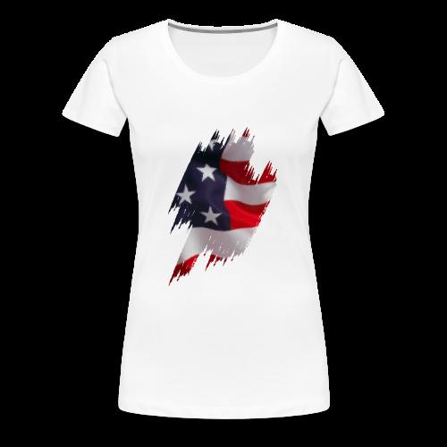 US Flag - Frauen Premium T-Shirt