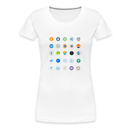 Altcoin lijst - Vrouwen Premium T-shirt