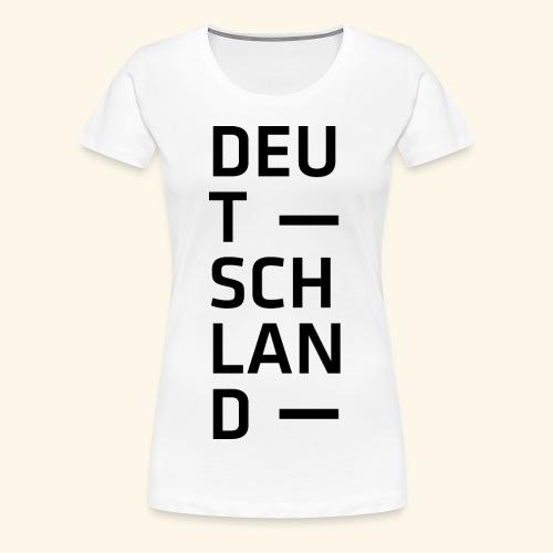 Deutschland Typo T Shirt Spruch - Frauen Premium T-Shirt