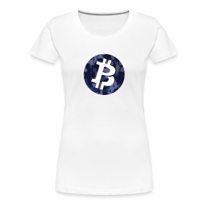 Bitcoin Private Digital Camo - Women's Premium T-Shirt