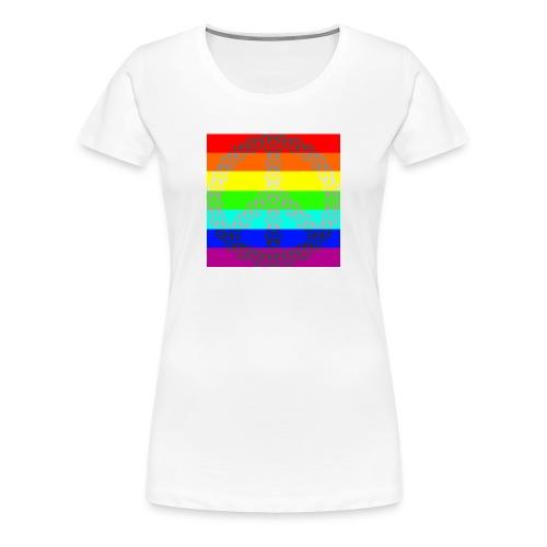 Regenbogen Gay Peace - Frauen Premium T-Shirt