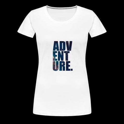 Adventure 5s Premium - Premium T-skjorte for kvinner