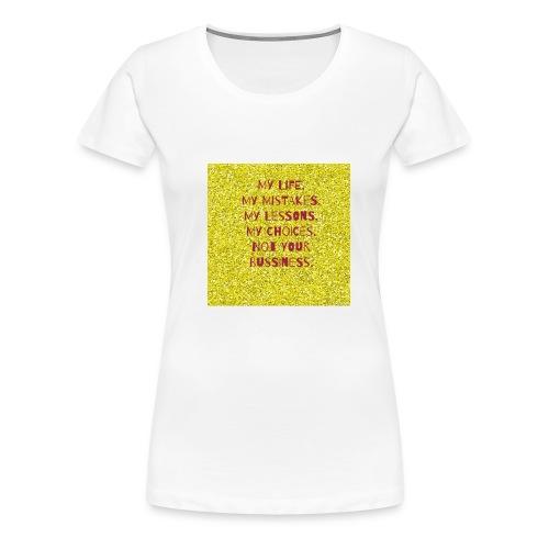 Glitter T-shirt - Frauen Premium T-Shirt