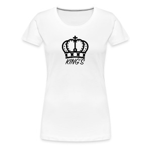 KINGS CROWN BIG LOGO - Women's Premium T-Shirt