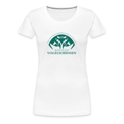 Logo Wanfrieder Vogelschiessen Einfarbig - Frauen Premium T-Shirt