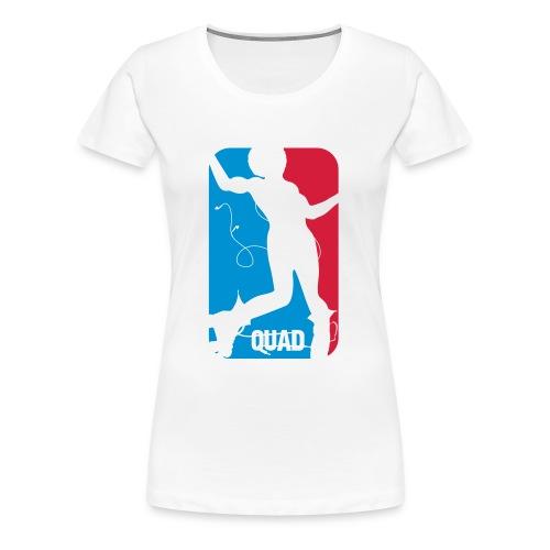 Tshirt Roller Quad (roller disco) - T-shirt Premium Femme