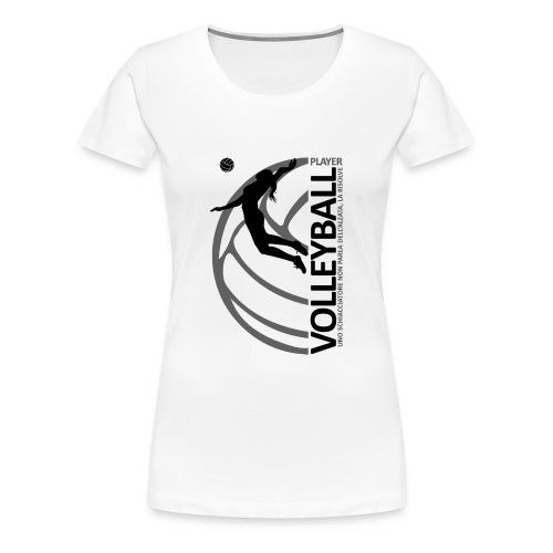 Volleyball player WOMAN black - Maglietta Premium da donna