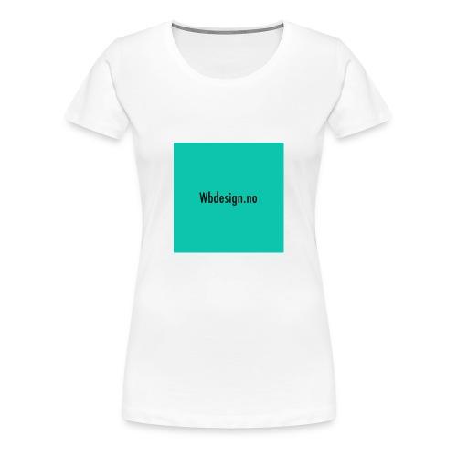 bg-png - Premium T-skjorte for kvinner
