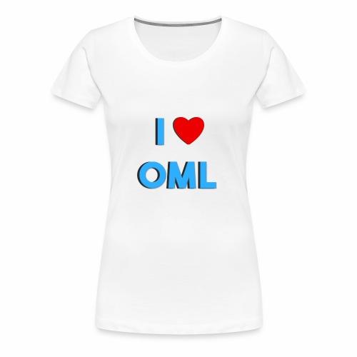 I LOVE OML - Vrouwen Premium T-shirt