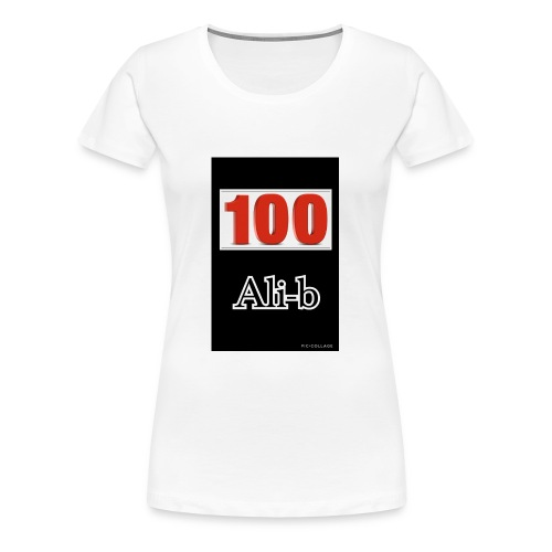 Limited edition Ali-b 100 subscribes merchandise - Women's Premium T-Shirt