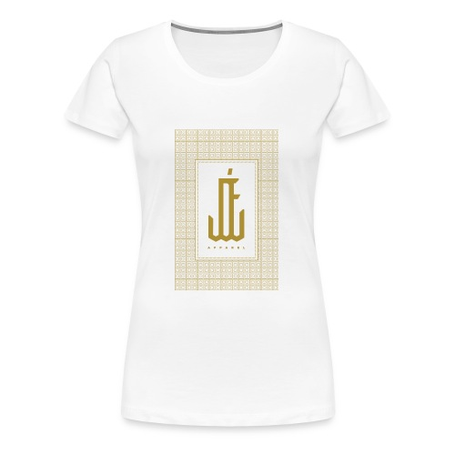 "Jardin d'Eden ""Art Deco"" White - Frauen Premium T-Shirt"