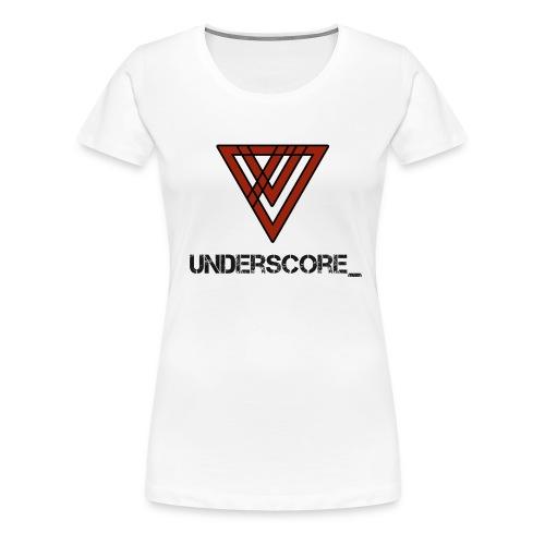 Design -Red White - Women's Premium T-Shirt