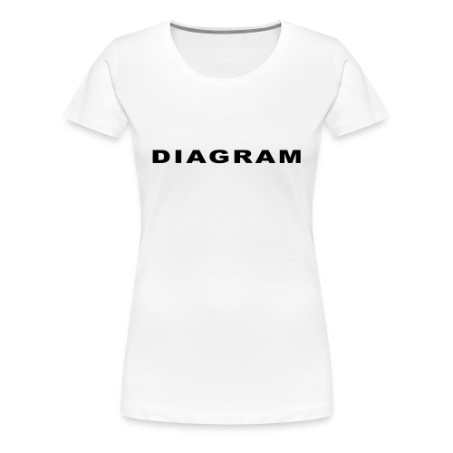 DIAGRAM Word Edition - T-shirt Premium Femme
