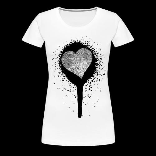 spray herz fingerabdruck - Frauen Premium T-Shirt