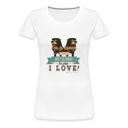 I'm a lover - without Background - Frauen Premium T-Shirt