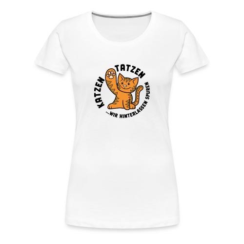 Katzentatzen Logo - Frauen Premium T-Shirt