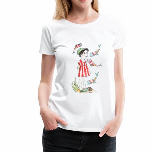 Mädchen und Wal - Frauen Premium T-Shirt