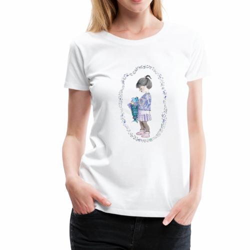 Mädchen umarmt Fisch - Frauen Premium T-Shirt