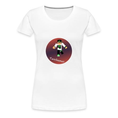 Hoodie met TwoGames logo - Vrouwen Premium T-shirt