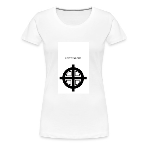 Kelten-kreuz Motiv 1 - Frauen Premium T-Shirt