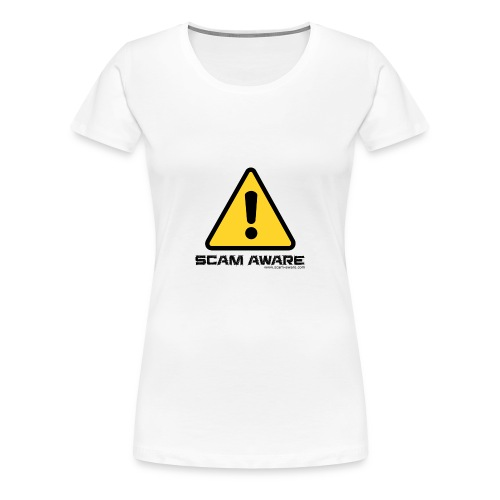 scam-aware.com's line of clothing - Women's Premium T-Shirt