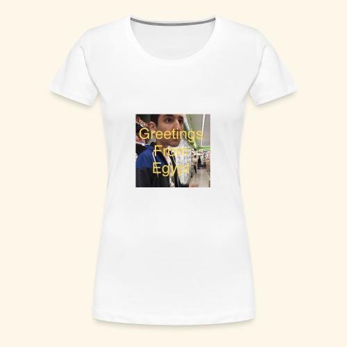 Greetings - Frauen Premium T-Shirt