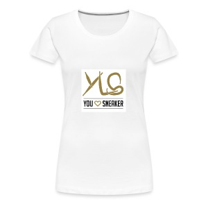you love sneaker - Frauen Premium T-Shirt
