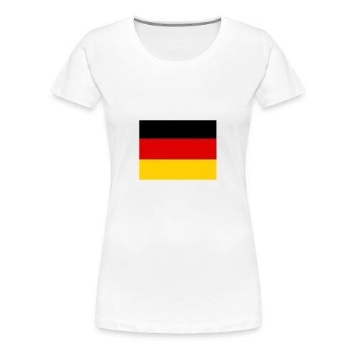 Deutschlandflagge - Frauen Premium T-Shirt