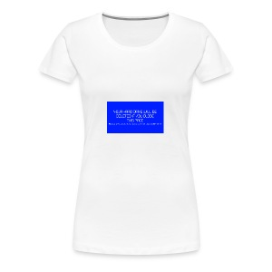 Hard Drive Deleted Notice - Women's Premium T-Shirt