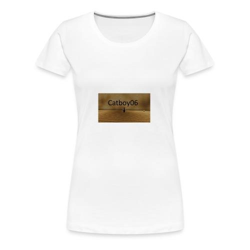 Catboy06 skin med skrift - Premium T-skjorte for kvinner