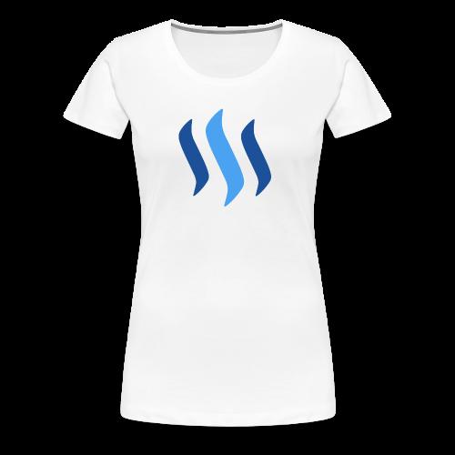 STEEMIT LOGO PNG - Frauen Premium T-Shirt