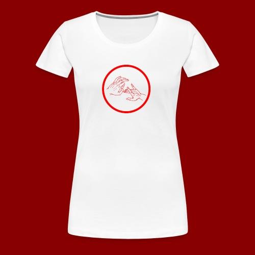 Logo Rond / Rouge - T-shirt Premium Femme