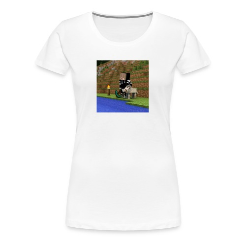 Das sind die Sachen mit mir und einen Wolf draufjj - Frauen Premium T-Shirt