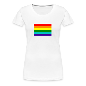 Gay pride rainbow vlag - Vrouwen Premium T-shirt