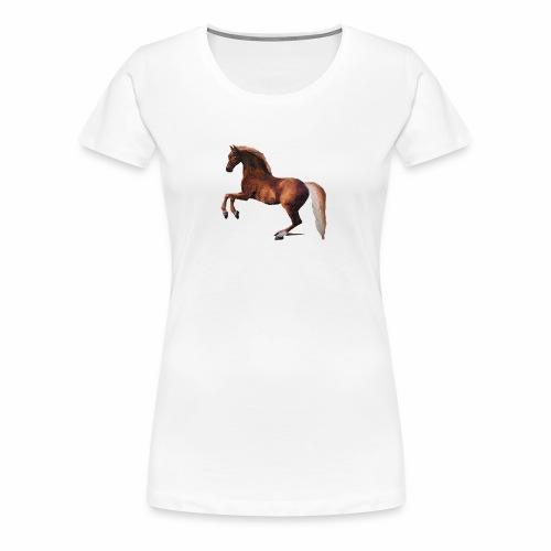 Pferd gemalt - Frauen Premium T-Shirt