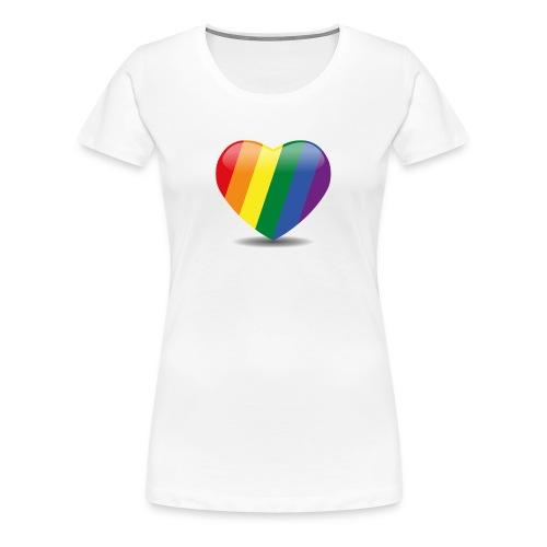 Regenboog hart - Vrouwen Premium T-shirt