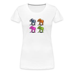 Elefantenkinder - Frauen Premium T-Shirt