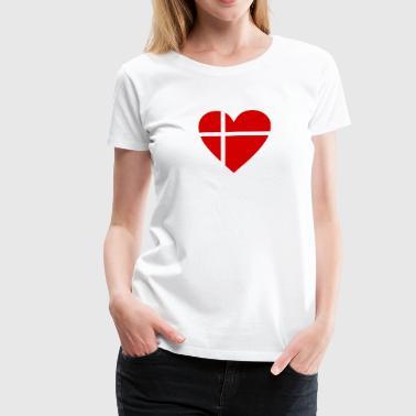 Tanska - Naisten premium t-paita