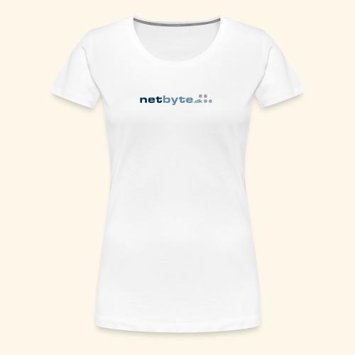 netbyte.dk logo - Dame premium T-shirt