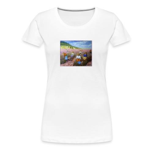 LA CUEILLETTE DES ROSES A GRASSE AUTREFOIS 1mx81 2 - T-shirt Premium Femme