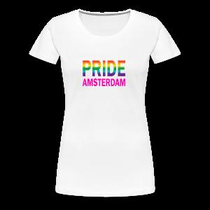 Pride Amsterdam in regenboog kleur en roze - Vrouwen Premium T-shirt