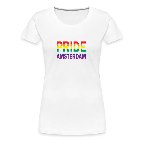 Pride Amsterdam in regenboog kleur - Vrouwen Premium T-shirt