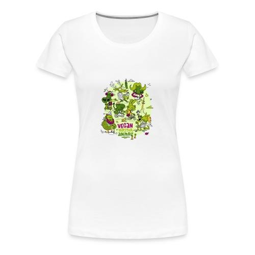 Vegan Hipster Animals - Frauen Premium T-Shirt