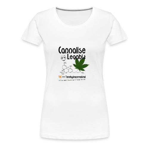 Cannalise Legabiz - it's all about cannabis - Vrouwen Premium T-shirt
