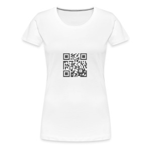 Plain QR Aesthetic Design - Women's Premium T-Shirt